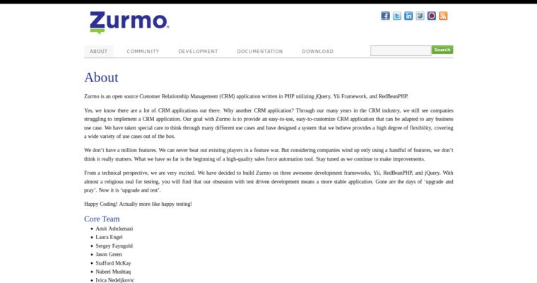 Zurmo | Best CRM Software
