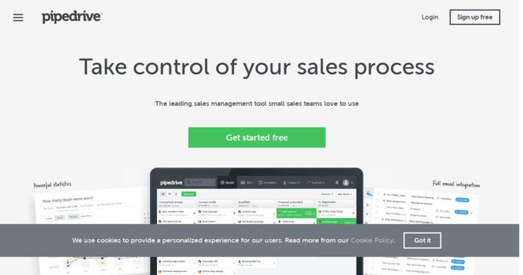 Pipedrive   Top Small Business CRM Applications   10 Best CRM